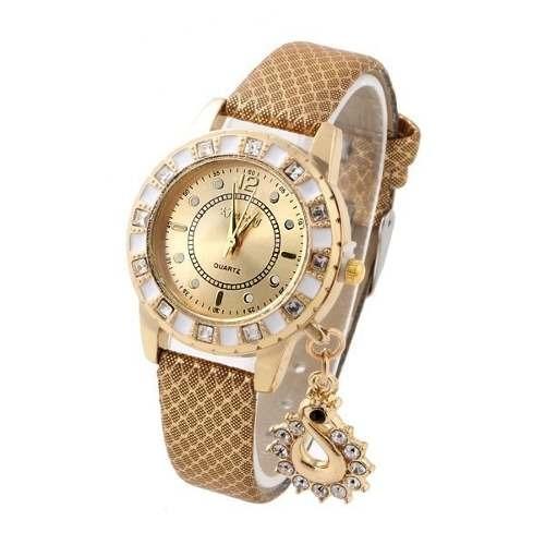 4e44f6e641c Relógio Feminino Kim Seng Pulseira De Couro Barato - R  32