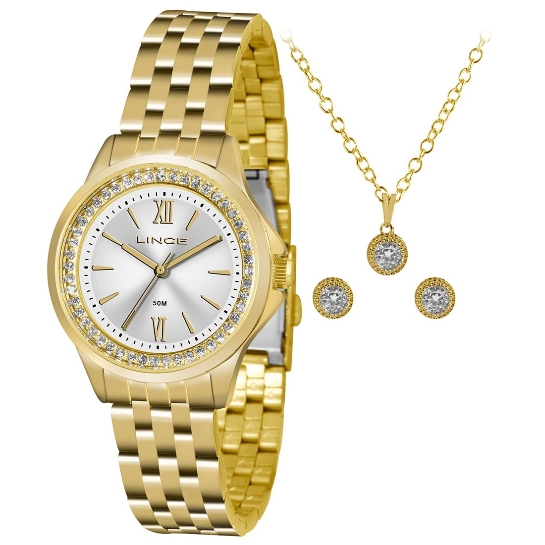 fb9aa9f7ba6 kit relógio feminino analógico lince - lrg4519l ku76s3kx. Carregando zoom.