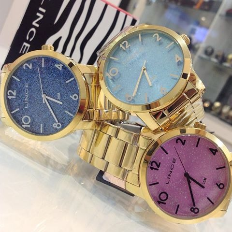13d2f23d7b0 relógio dourado fundo glitter rosa feminino lince lrg4366l · relógio  feminino lince