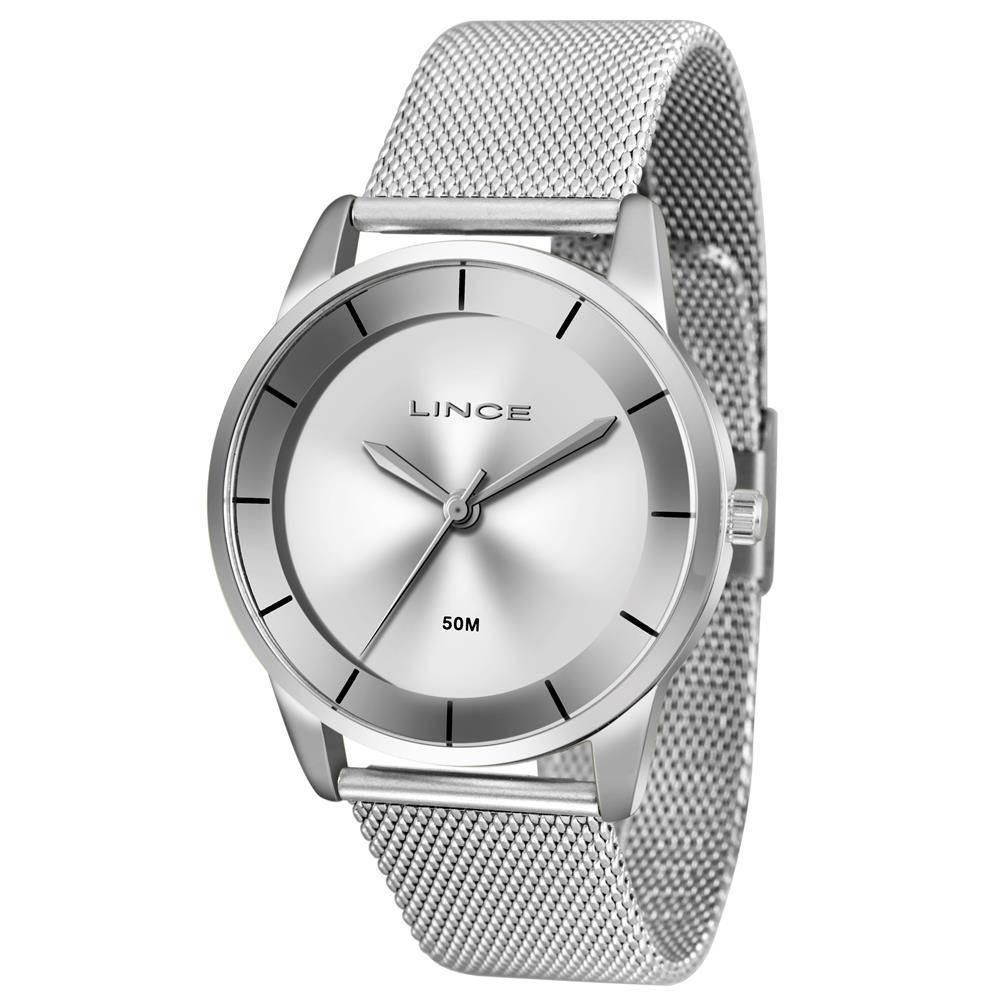 6260e32d0c9 Relógio Feminino Lince Analógico Lrm4405l S1sx Prata - R  139