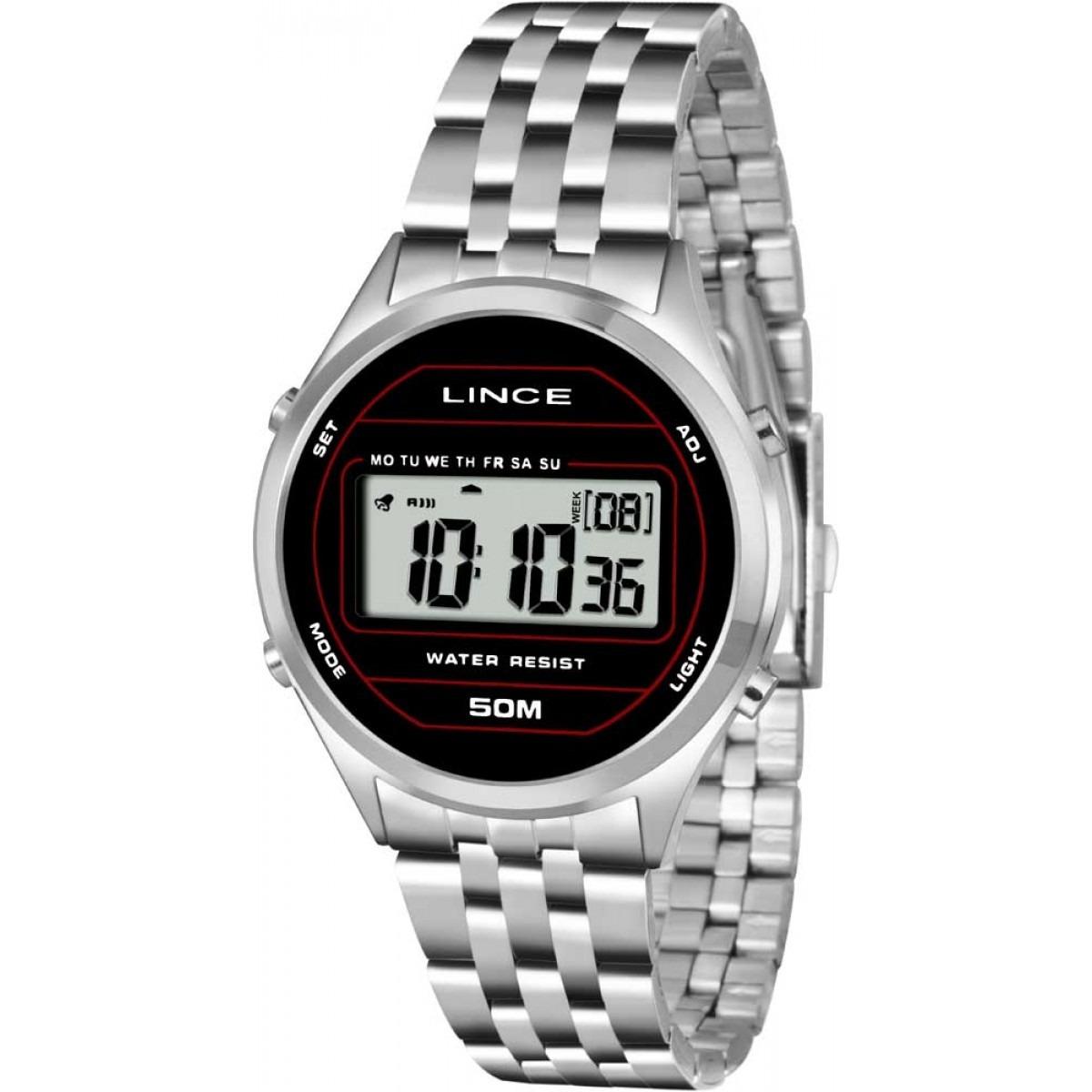 a3251fee672 Relógio Feminino Lince Sdph024l Bxsx Digital Vintage Prata - R  174 ...