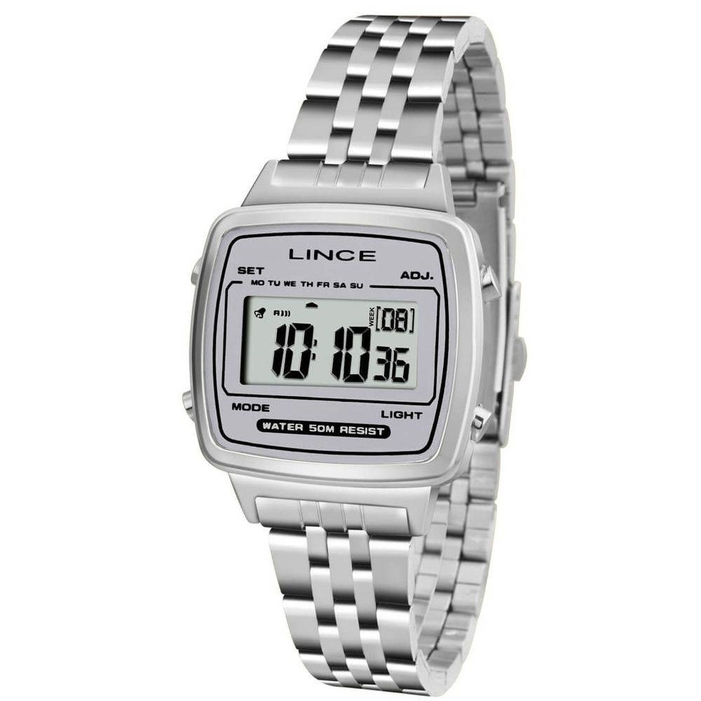 de845abf740 Relógio Feminino Lince Digital Sdph044l Bgsx - Prata - R  168