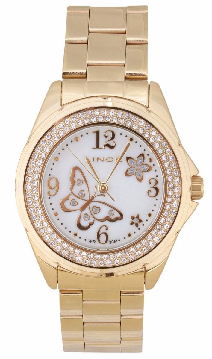 e9c1db249d8 Relógio Feminino Lince Dourado (orient) Lrg4259l Prova Dágua - R ...