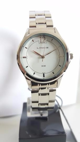 Relógio Feminino Lince Clássico Pequeno Aço Prata Analógico - R  219 ... 1503b09966