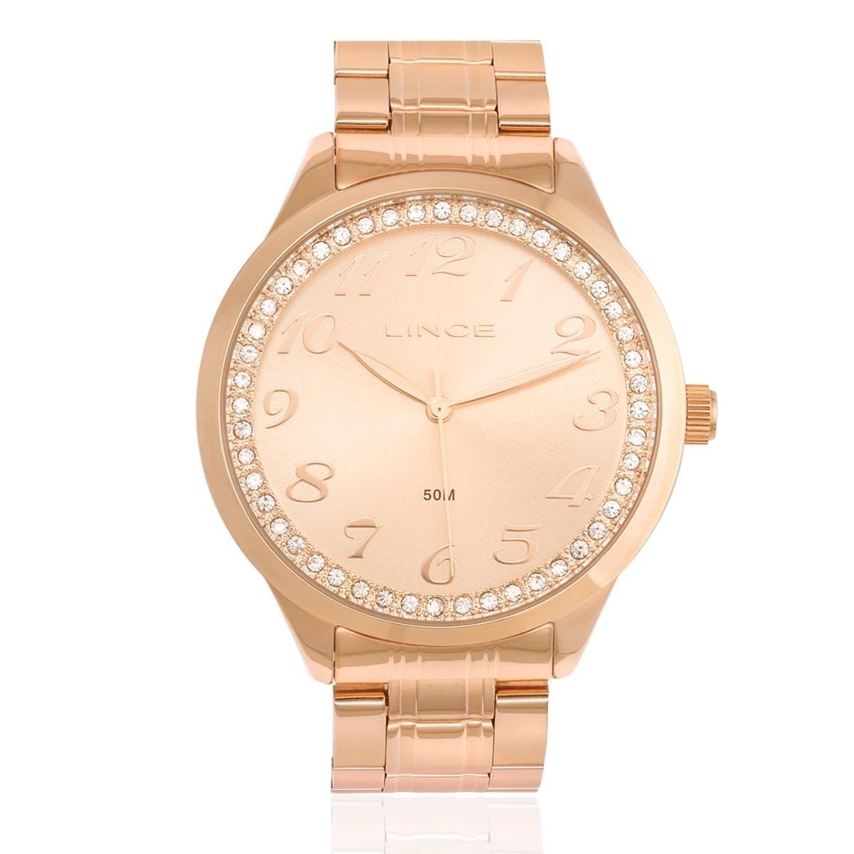 dbff48b8e80 relógio feminino lince analógico lrr4440l r2rx rose. Carregando zoom.