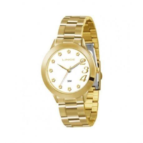 af61cde81e2 Relógio Feminino Lince Dourado Analógico - 609 - R  199