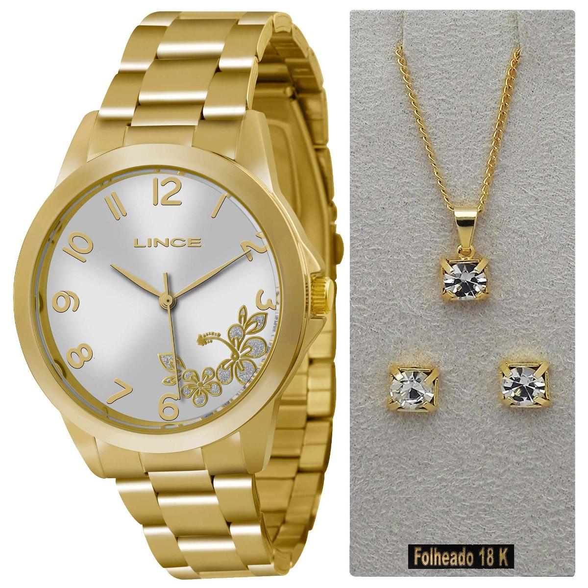 0c91709bd35 relógio feminino lince dourado lrgj041l k121. Carregando zoom.
