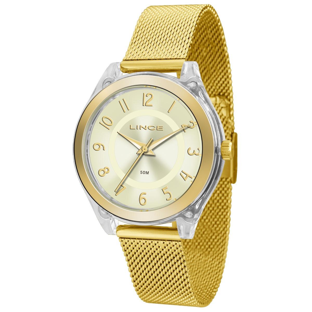 4312a073f54 relógio feminino lince lrg4432p c2kx analógico dourado. Carregando zoom.