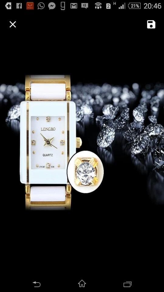 730065cf7cd Relógio Feminino Longbo Cerâmica