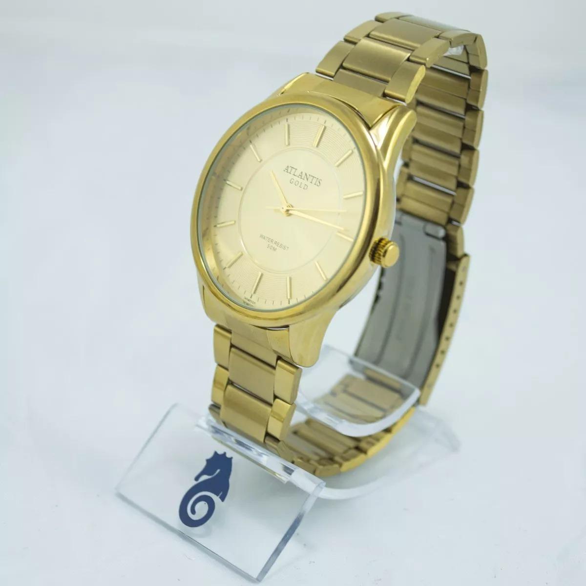 c5c95ec5b45 relógio feminino luxo atlantis gold. original. promoção. Carregando zoom.