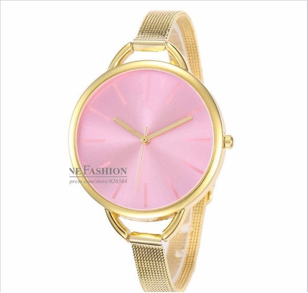 7b60325714e Relógio Feminino Luxo C K Aço Cromado Dourado Mostrador Rosa - R  89 ...