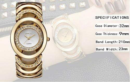 7b629a057fb relógio feminino luxo dourado prata rosé c estojo promoção. Carregando zoom.