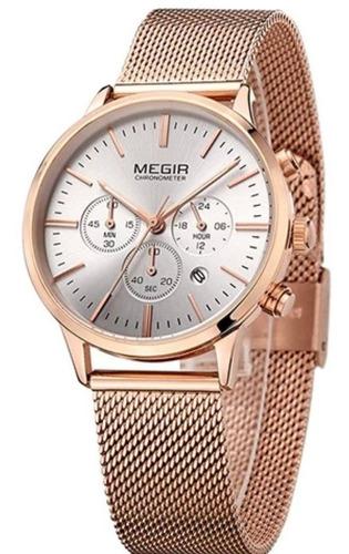 relógio feminino luxo megir