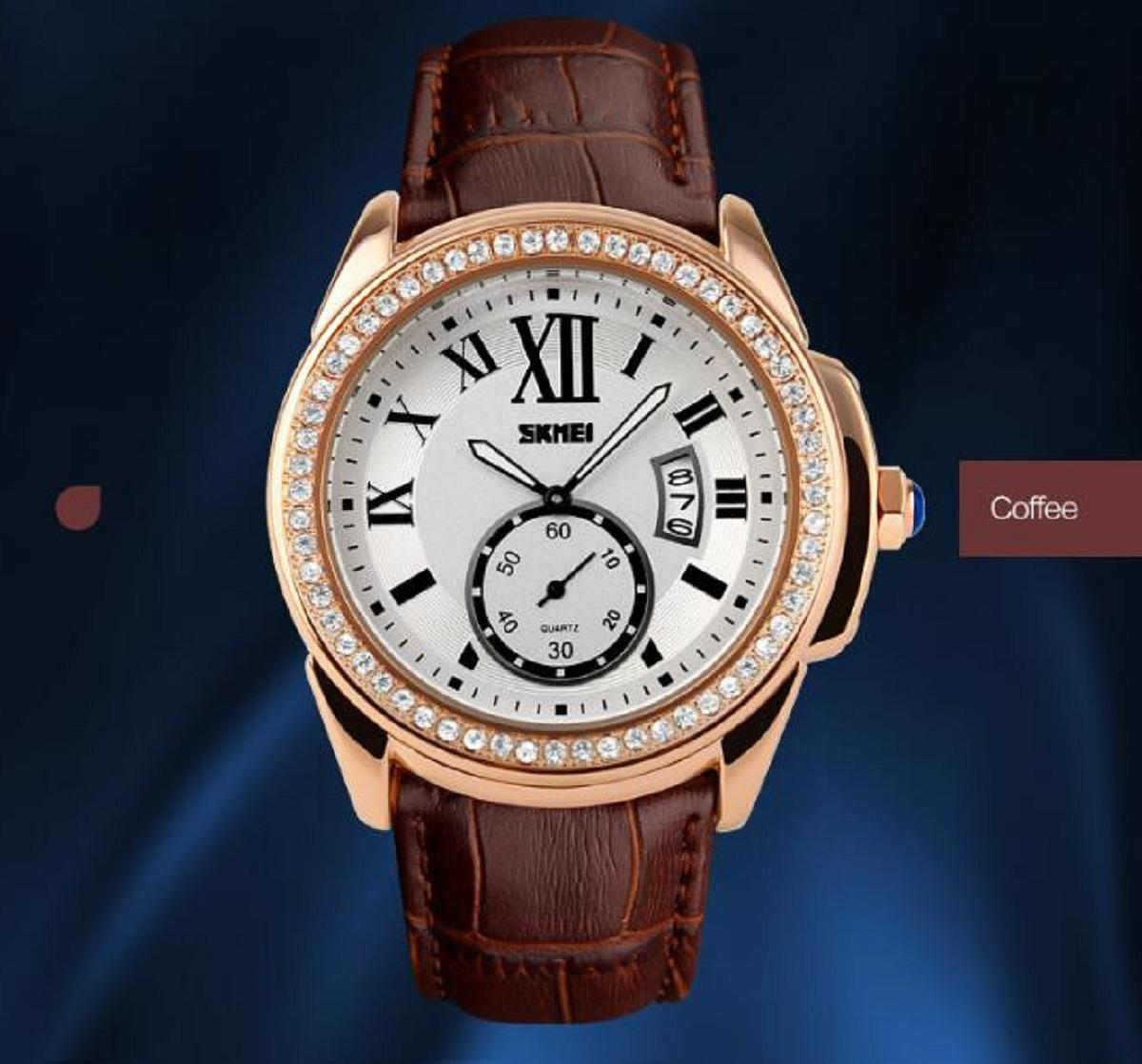 5fcbf155089 relógio feminino luxo skmei a prova d água frete grátis. Carregando zoom.