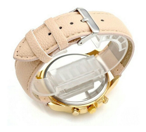 relógio feminino luxuoso dourado barato pulseira de couro