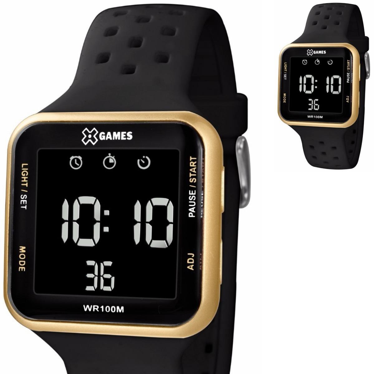43bec9f4283 relógio feminino masculino digital x games prova d água. Carregando zoom.