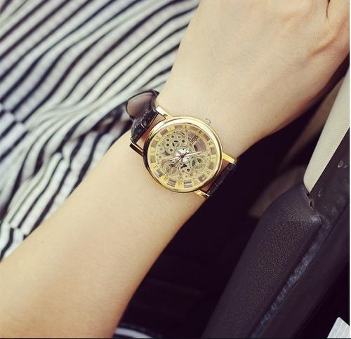 relógio feminino masculino esqueleto bracelete prego grátis
