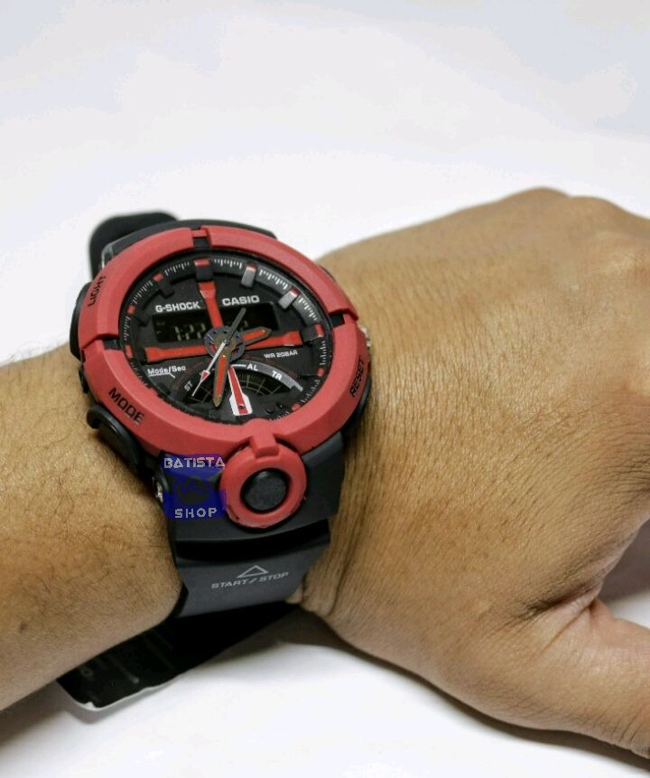 3f2a51af60e relógio feminino masculino g shock ga 500 vermelho promoção. Carregando zoom .