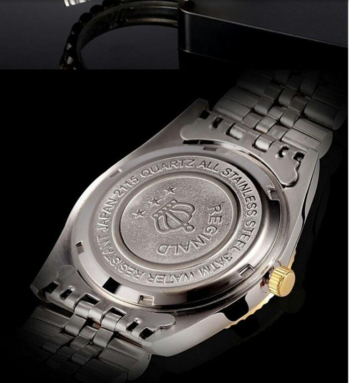 1711db348d5 Relógio Feminino Metal Dourado Na Cor Prata Quartz De Luxo - R  169 ...