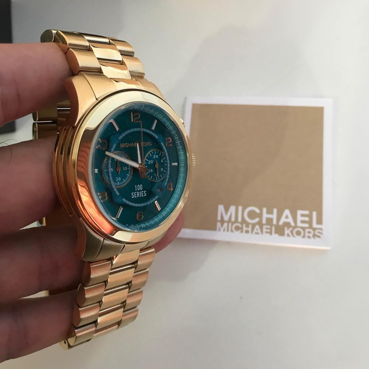d4efad31e1a Relógio Feminino Michael Kors Mk8315 Turquesa Mapa Mundi - R  599