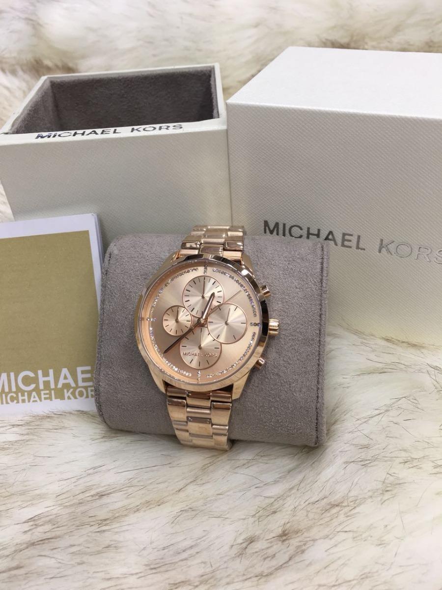 Relógio Feminino Michael Kors Mk6521 Rosê Lançamento Mk42 - R  525 ... c47e7f0903
