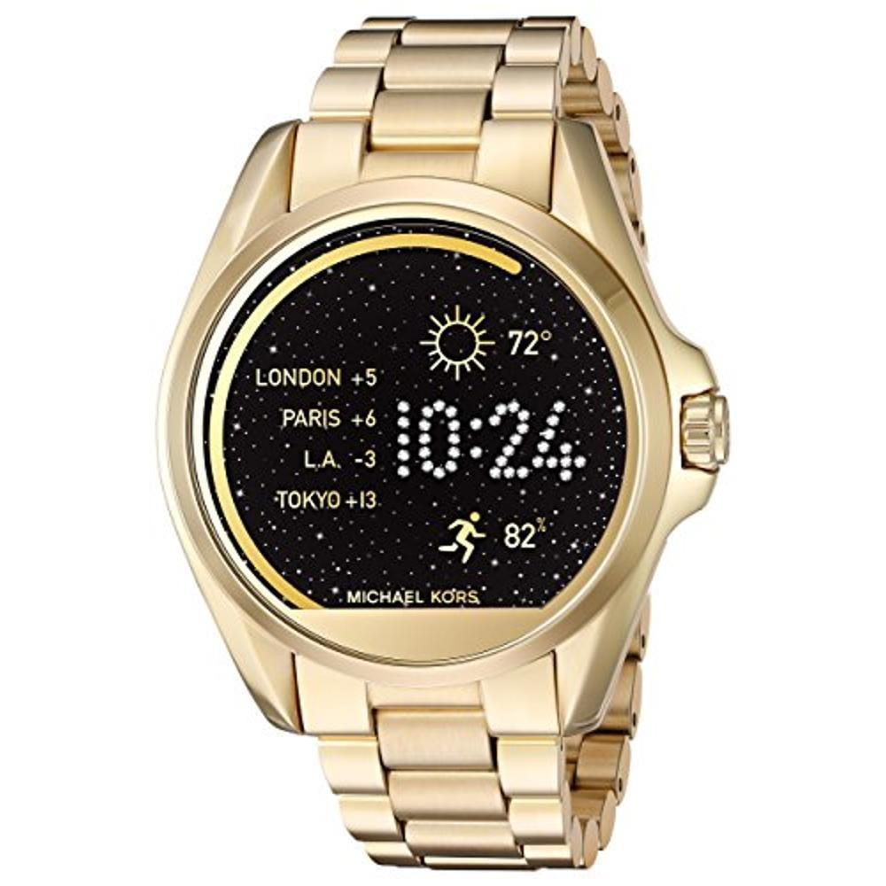 984e8b10c6a Relógio Feminino Michael Kors Touch Smartwatch Dourado Eua - R ...