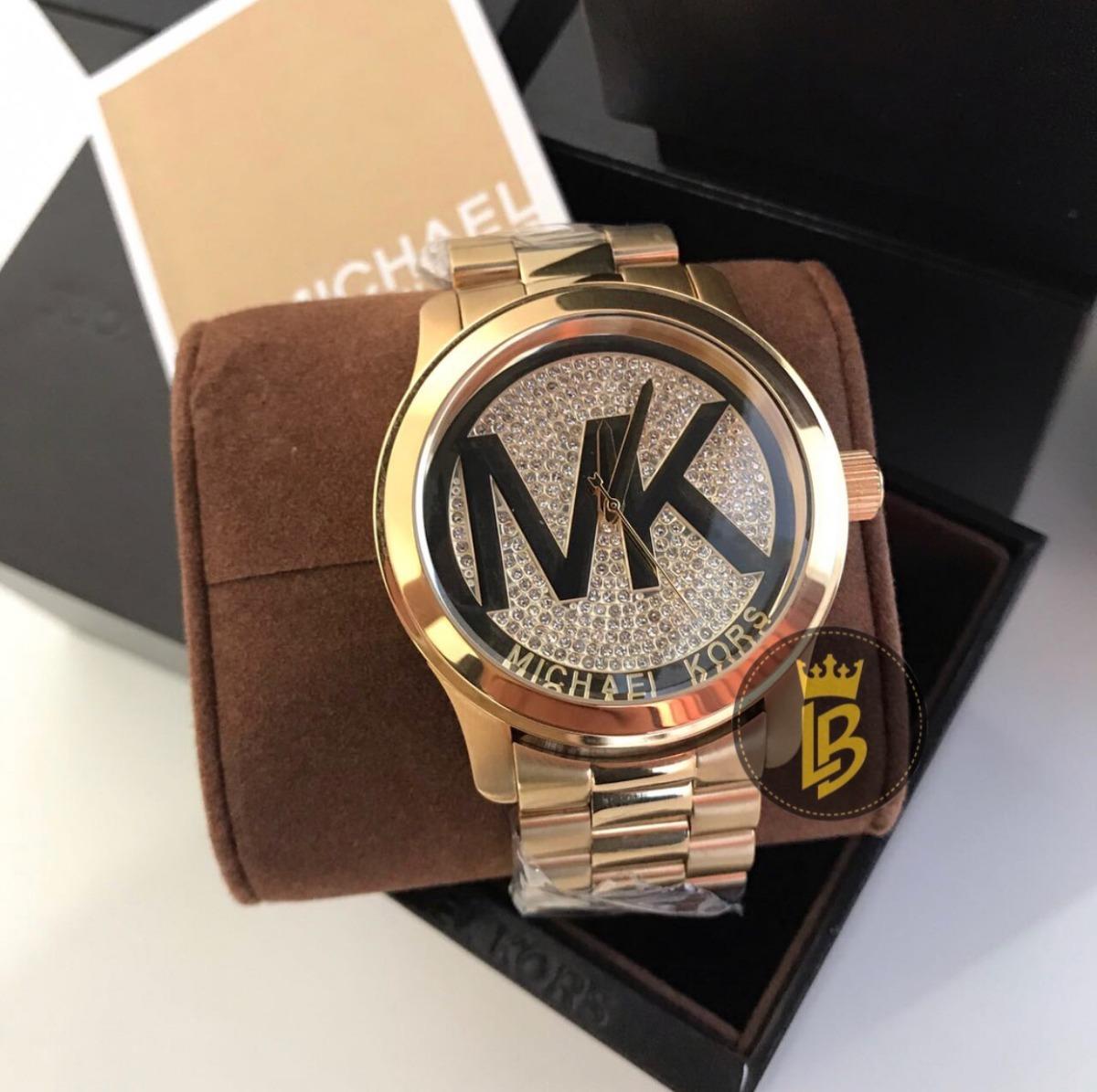 2f32fb419cd relógio feminino michael kors mk5706 dourado cristal genuíno. Carregando  zoom.
