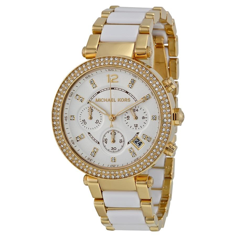 ddc6c89d5 Relogio Feminino Michael Kors Mk6119 Dourado/branco Promoção - R$ 499,99 em  Mercado Livre
