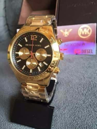 383654de68bd2 Relógio Feminino Michael Kors Mk8214 Dourado Grande Lindo 15 - R ...