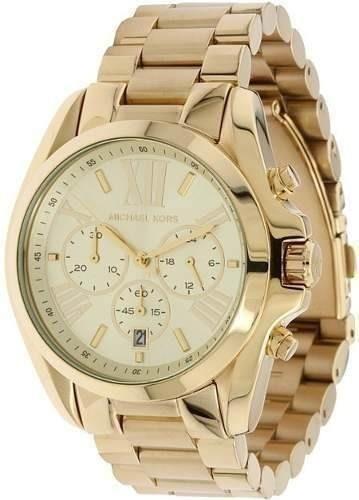 a5a7ab3bffe7d Relógio Feminino Michael Kors Mk8214 Dourado Grande Lindo 15 ...
