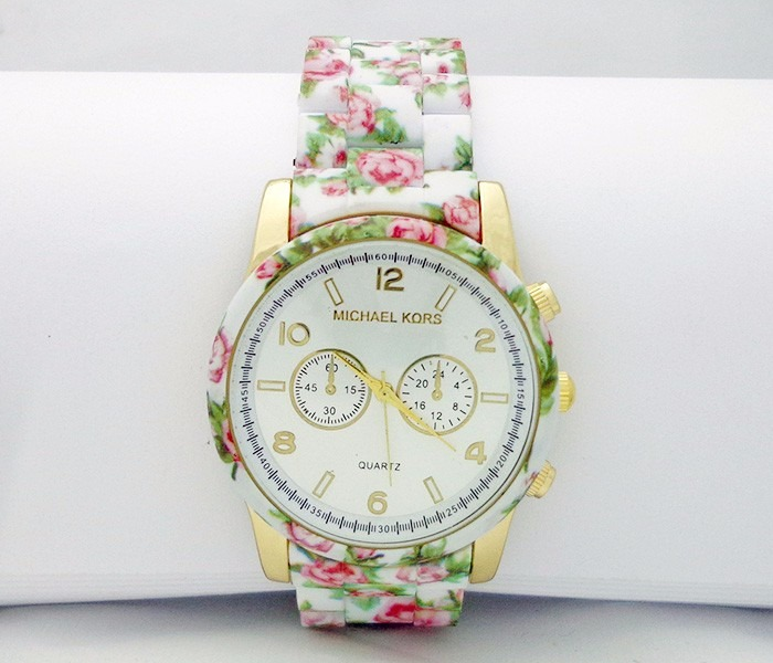 ccc190b697c Relógio Feminino Michael Kors - Pulseira Floral - R  89