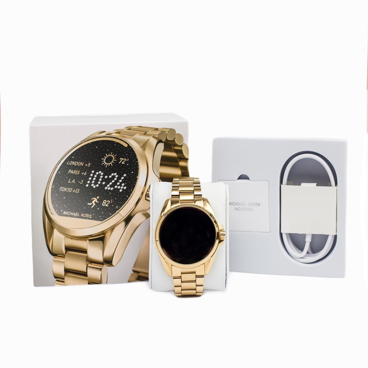 c702214c3fb relógio feminino michael kors touch smartwatch dourado eua. Carregando zoom.