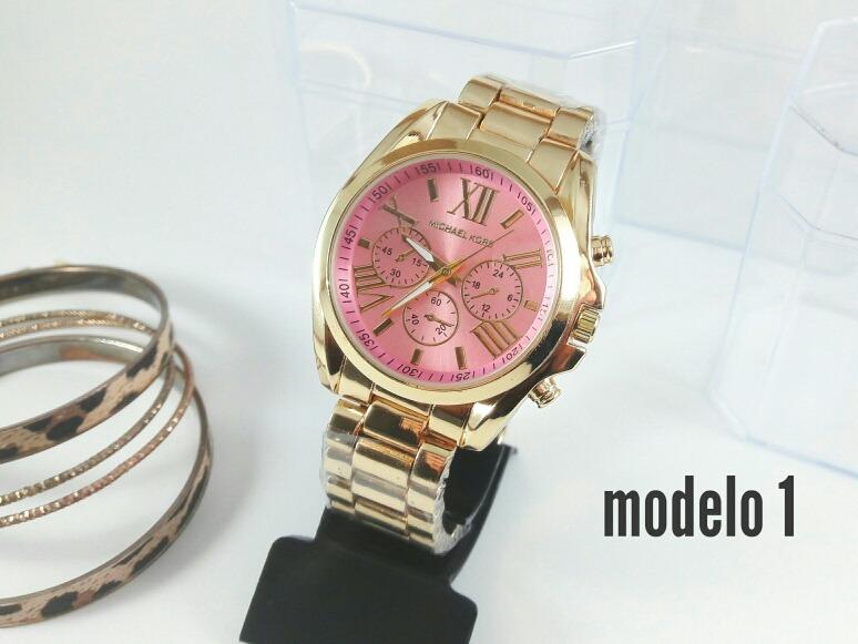 88a4bf0f3fe Relógio Feminino Mk   Ck Barato Dourado