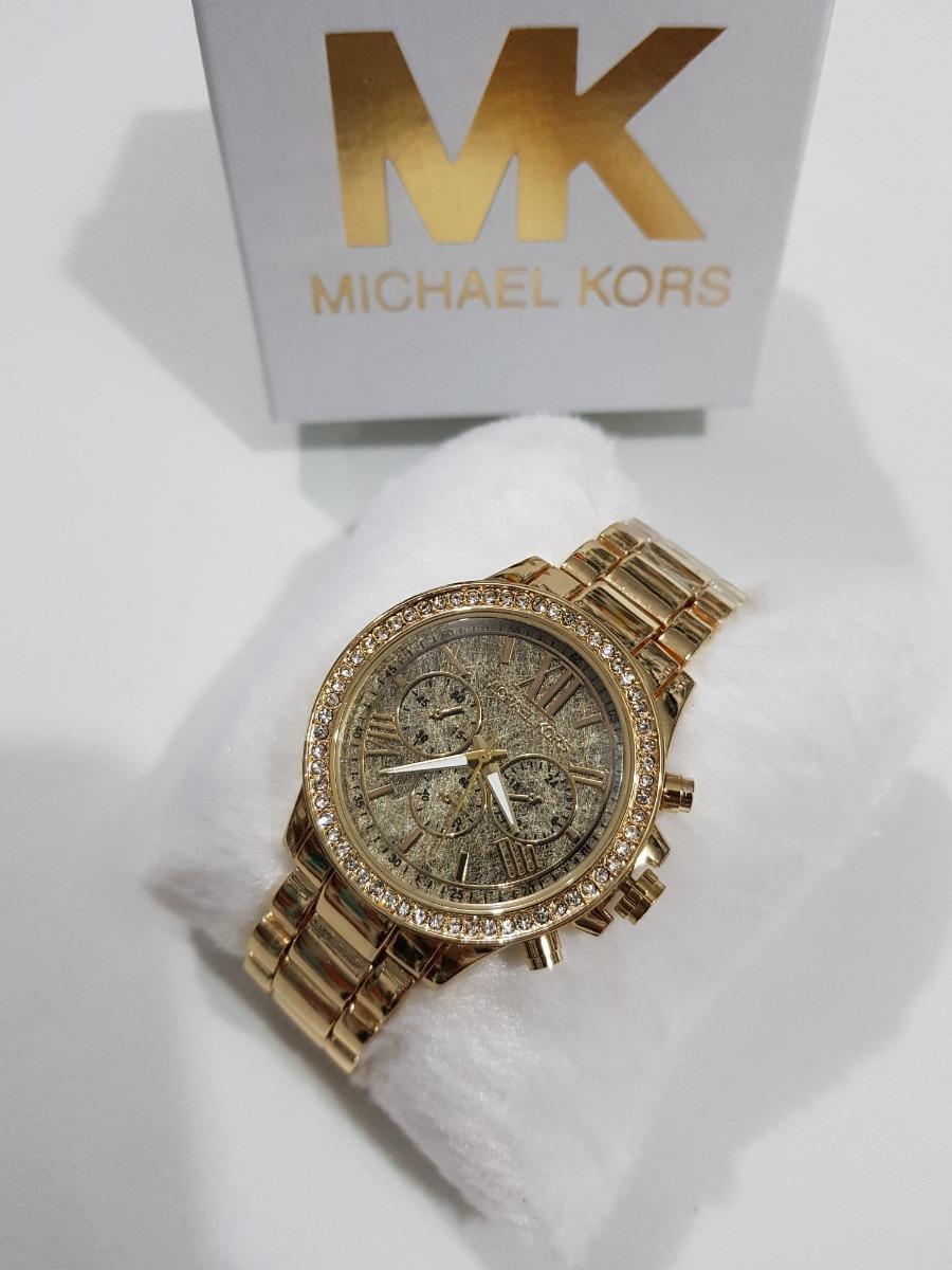 8bdcd66d7ac26 relógio feminino mk dourado rose prata barato top com caixa. Carregando zoom .