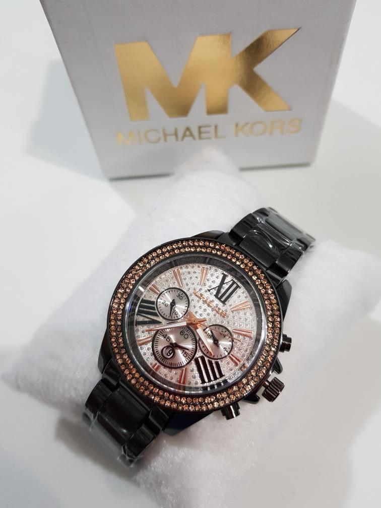 d30a2f72222 relógio feminino mk fosco rose prata preto dourado. Carregando zoom.