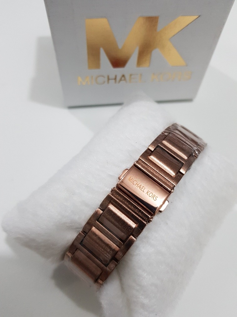 ed71604f4b6 relógio feminino mk fosco rose prata preto dourado gravado. Carregando zoom.