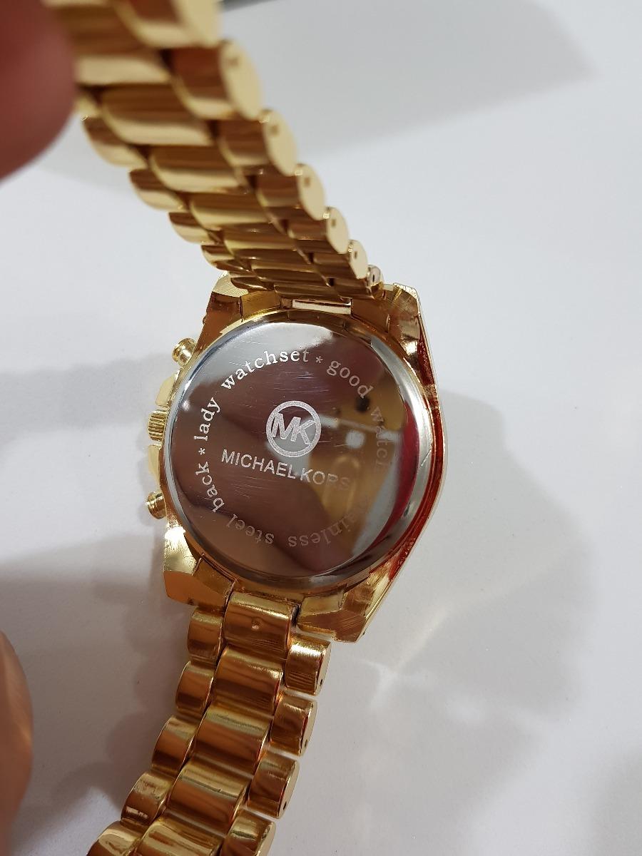 8b48664cb6ed0 relógio feminino mk fosco rose prata preto dourado gravado. Carregando zoom.