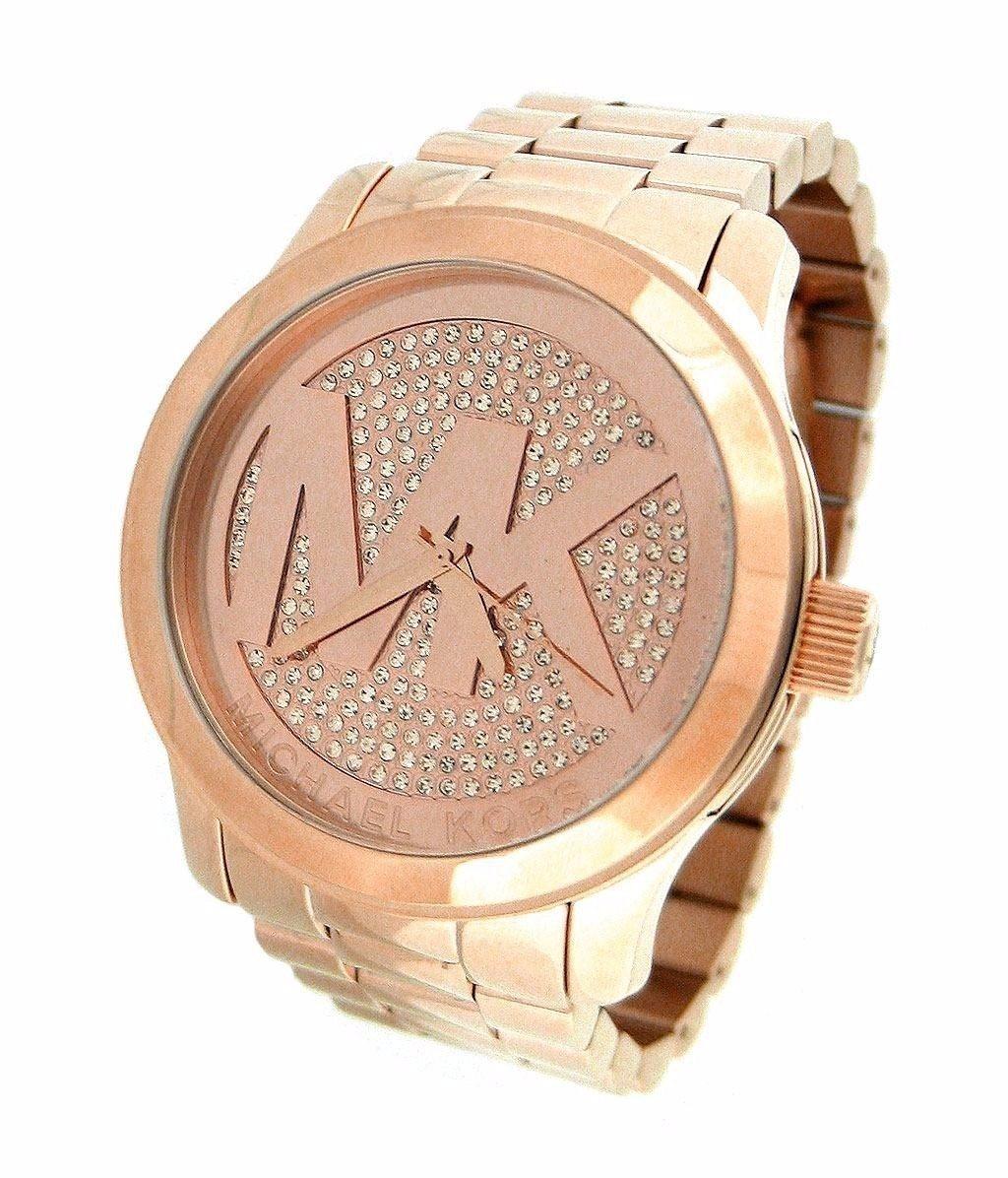 7d50e0a7ed4 relógio feminino mk rose com strass-barato-luxo+lancamento. Carregando zoom.