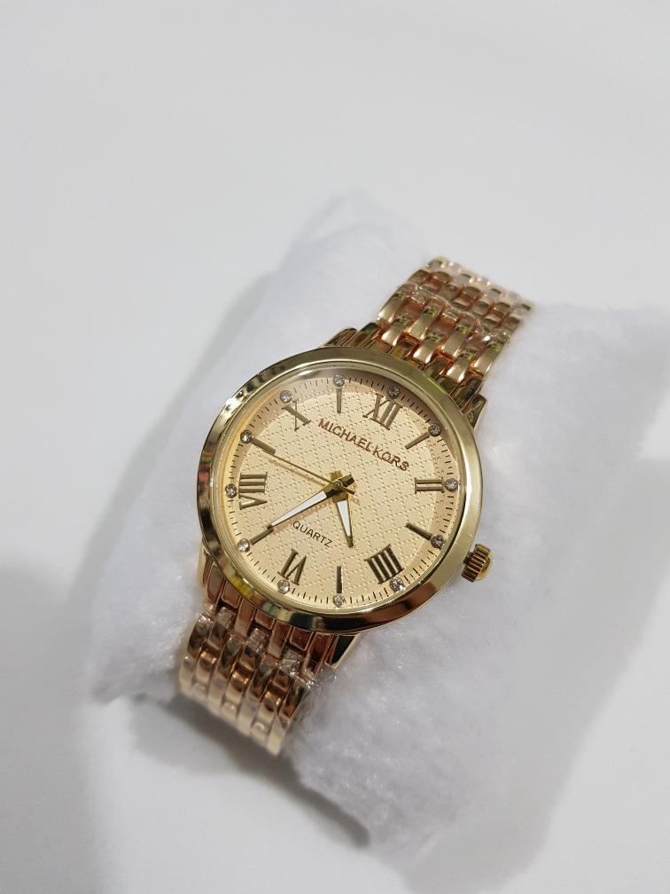 62eb08e42 relógio feminino mk rose prata preto dourado brilhante. Carregando zoom.