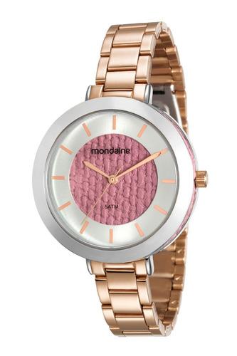 relógio feminino mondaide 99172lpmvre4 promo verão