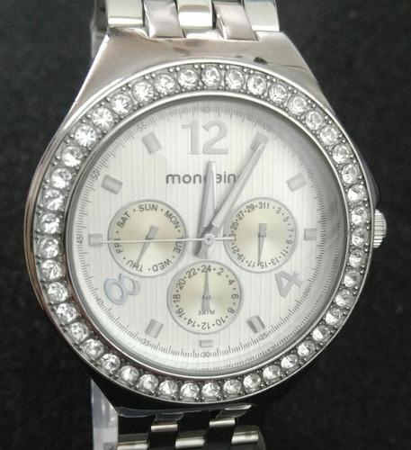 relógio feminino mondaine 76195l0mgns1 analógico multifunção