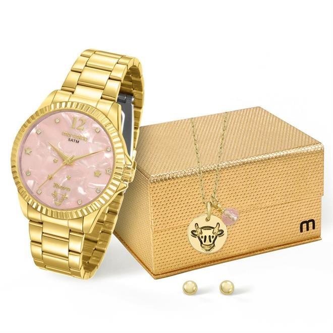 346c531f890 Relógio Feminino Mondaine 99128lpmkde4k1 Dourado Touro - R  195