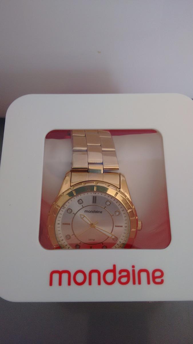 2c61bfe0318 lindo relógio feminino mondaine de luxo caixa de 4 cm. Carregando zoom... relógio  feminino mondaine. Carregando zoom.