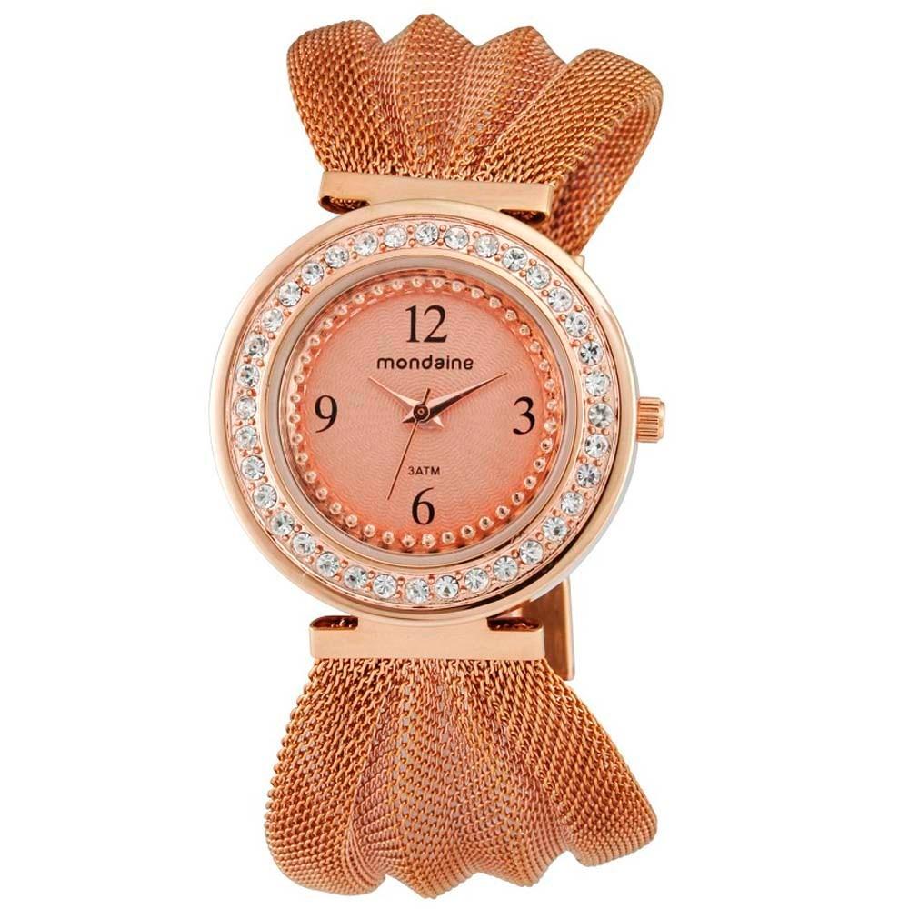21c381442d6 Relógio Feminino Analógico Mondaine 76187lpmfre3 - Rose - R  129
