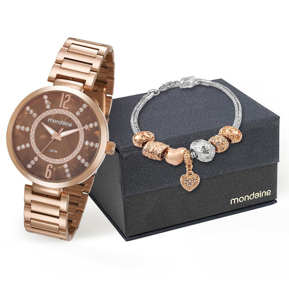 edeb21d1d6f Relógio Feminino Analógico Mondaine 53617lpmkre3k1 Rose Gold - R ...