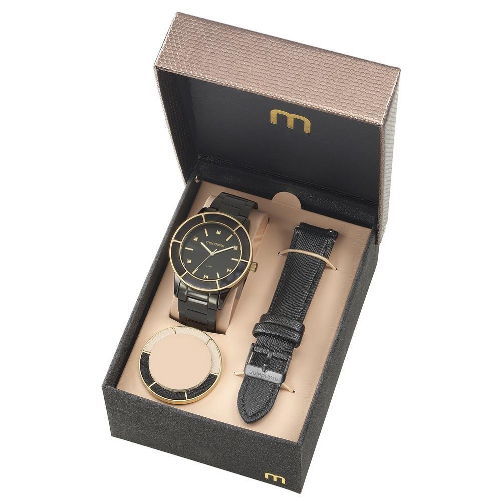 7f0c7211b24 Relógio Feminino Analógico Mondaine 99265lpmvpe2 Preto - R  258