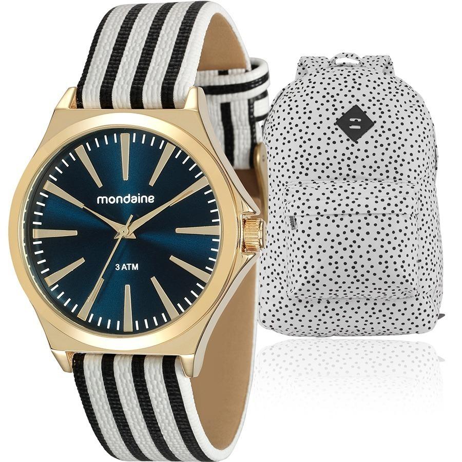 66005ee3998 Kit Relógio Feminino Mondaine Com Mochila Carnival - R  179