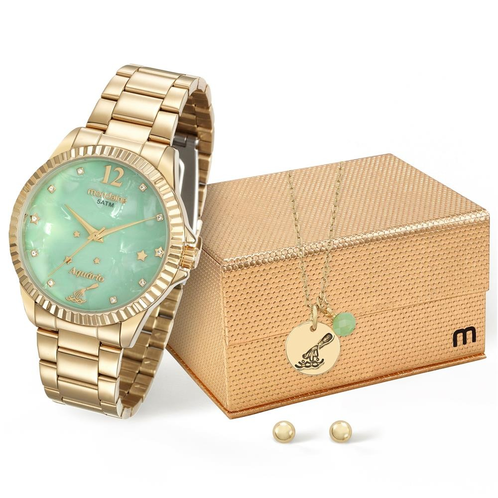 f1f4747a4d325 Relógio Feminino Analógico Mondaine 99128lpmkde1k1 Dourado - R  168 ...