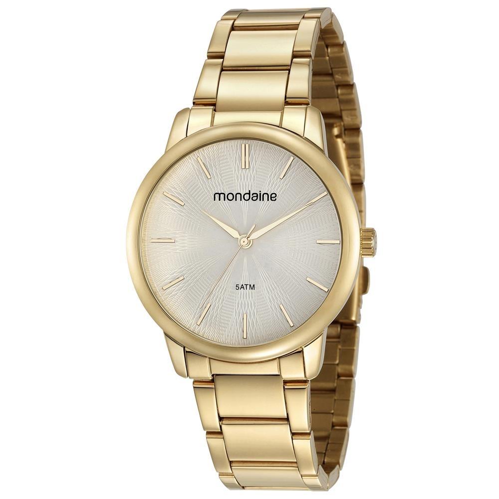 7f44aaaabd1e2 Relógio Feminino Analógico Mondaine 53608lpmvde1 Dourado - R  116,90 ...