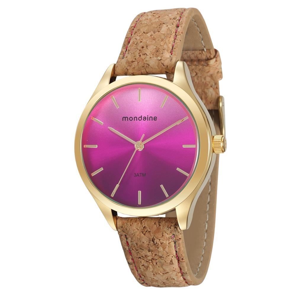 799f813a33c Relógio Feminino Analógico Mondaine 76641lpmvdh2 Marrom rosa - R ...